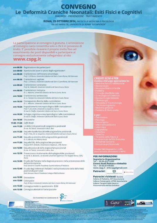 CSPG e Studio Postura e Globalità, Plagiocefalia Posizionale
